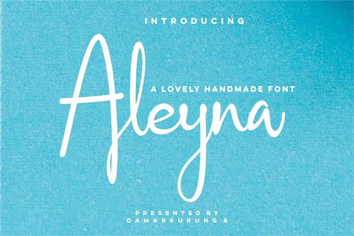 Aleyna Font handwriting text