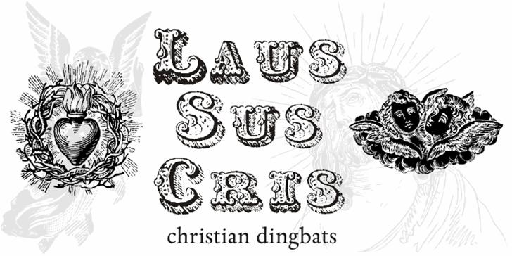 Laus Sus Cris Font drawing sketch