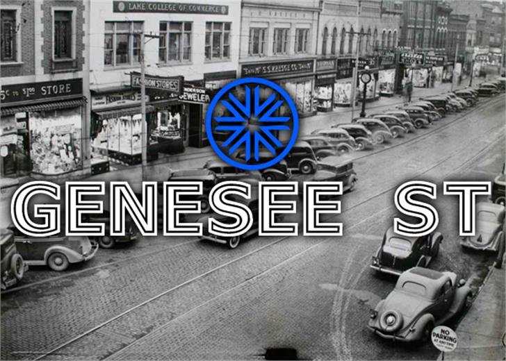 Genesee St Font outdoor street