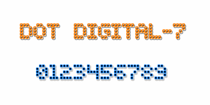 Dot Digital-7 Font design illustration