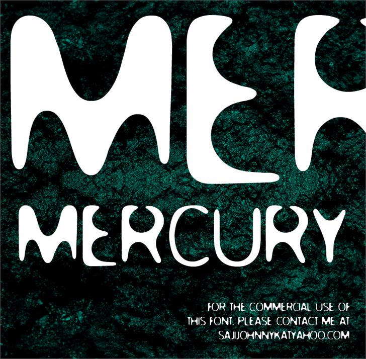 MERCURY Font poster dishware