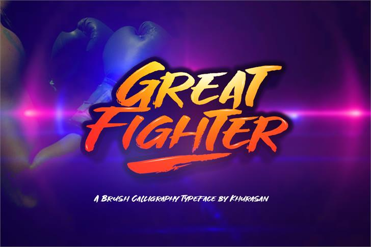 Great Fighter Font poster