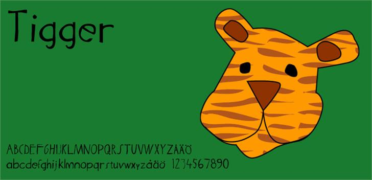 Tigger Font cartoon design