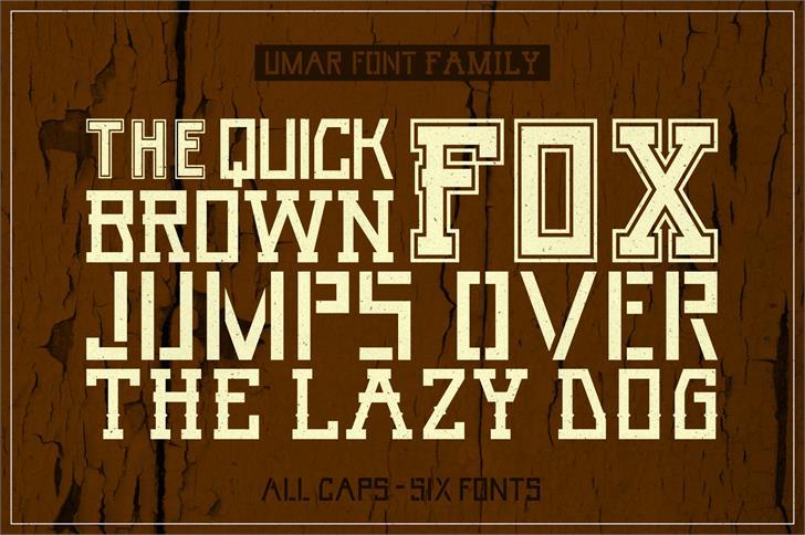 Umar Font poster typography