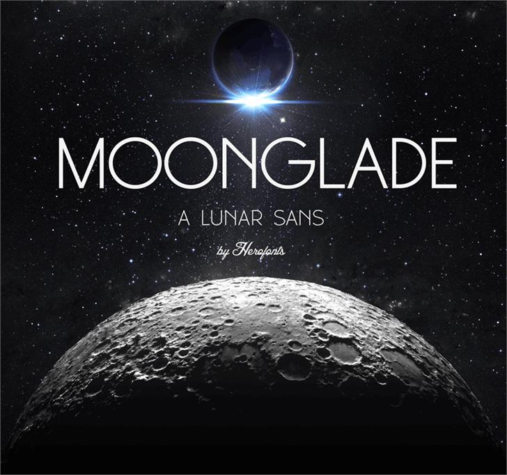 Moonglade DEMO Font moon astronomy