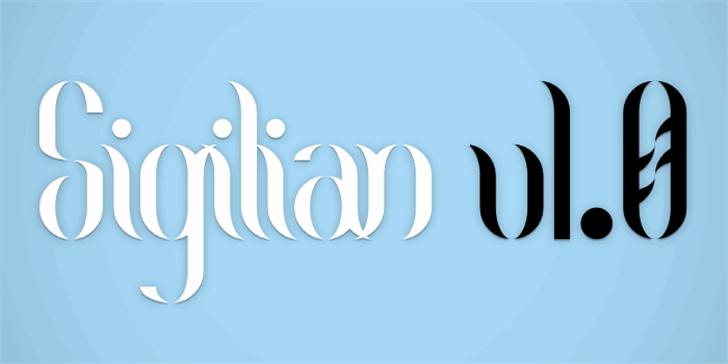 Sigilian Font design graphic