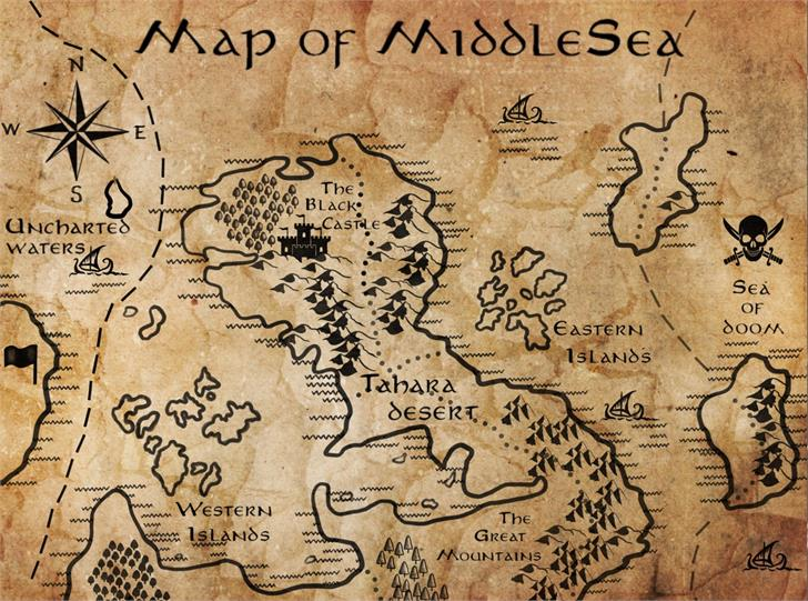 MiddleEarth Font handwriting text