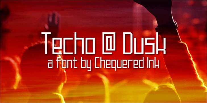Techno at Dusk Font screenshot