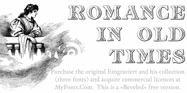 Eingraviert Beveled Font text design
