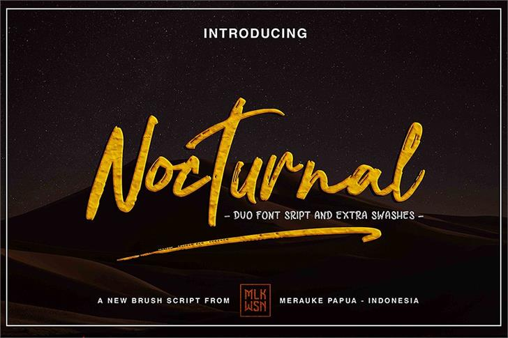 Nocturnal font by mlkwsn