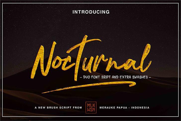 Nocturnal Font text screenshot