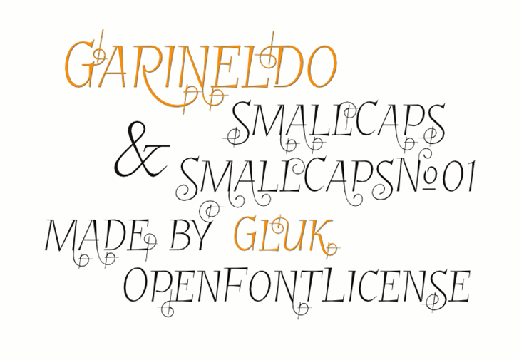 GarineldoSC Font handwriting text