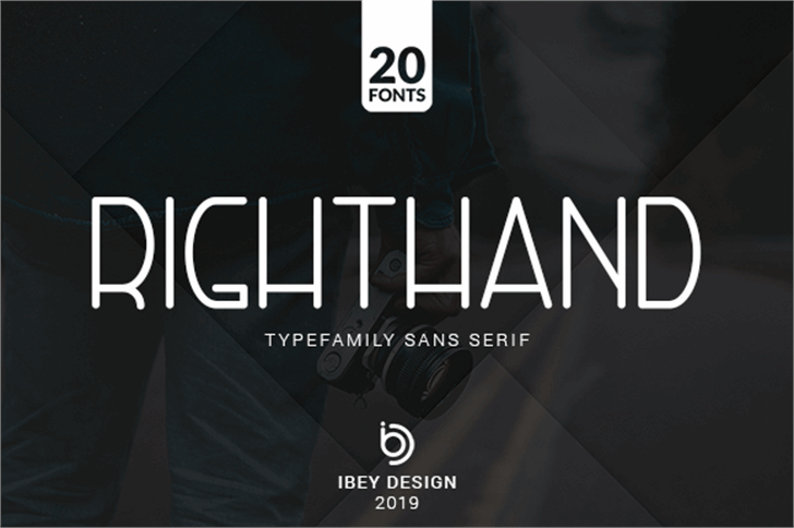 Right Hand Font screenshot design