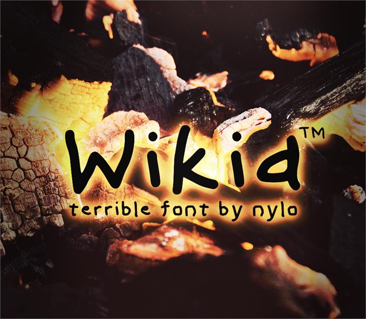 Wikid Font poster reef