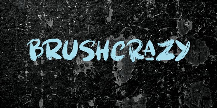 Brushcrazy DEMO Font tree outdoor