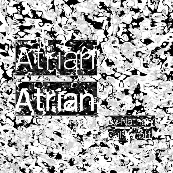 Atrian Font cartoon drawing