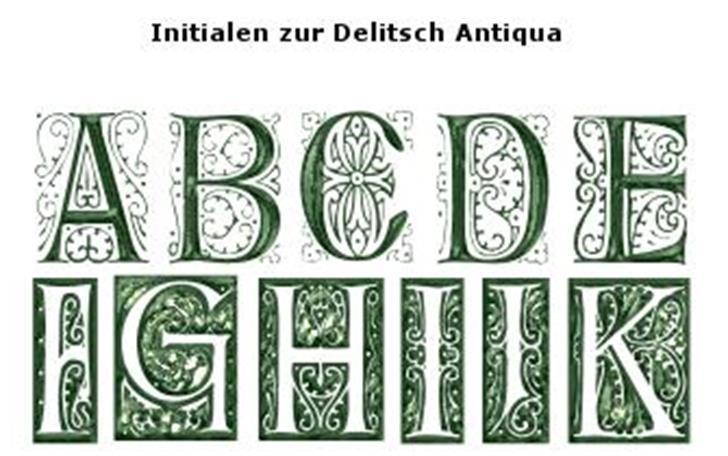 DelitschInitialen Font drawing sketch