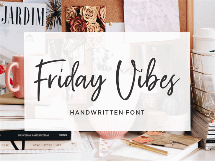Friday Vibes Font design template