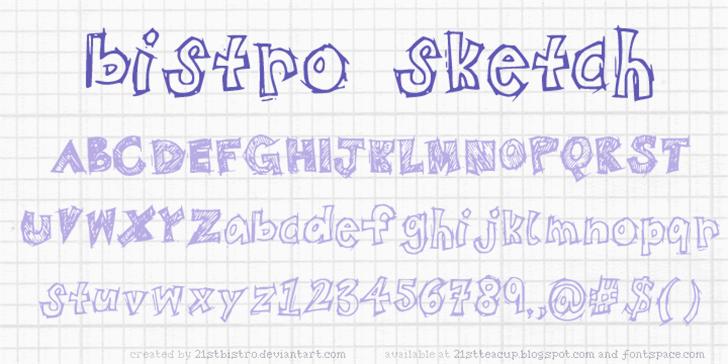 BistroSketch font by 21stbistro