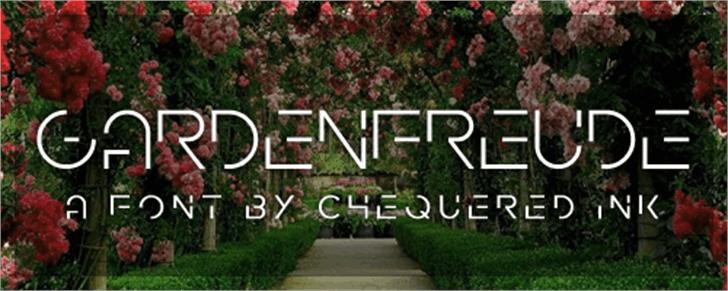 Gardenfreude font by Chequered Ink