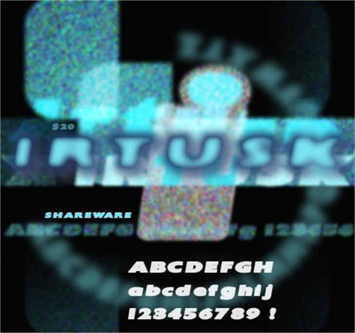 Irtusk Font screenshot television
