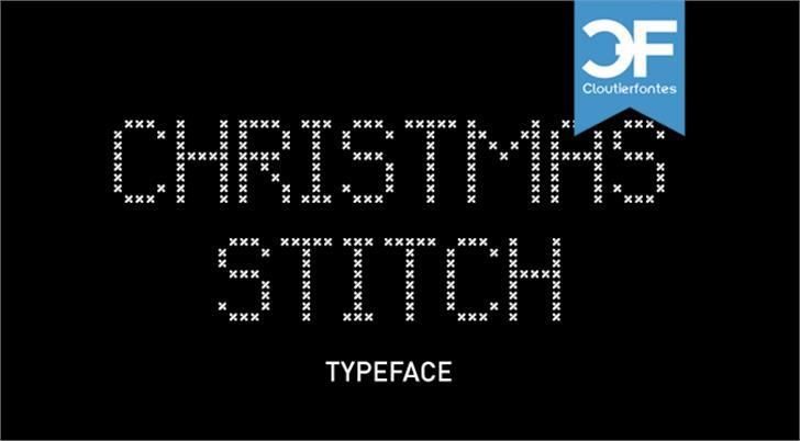 CF Christmas Stitch Font screenshot design