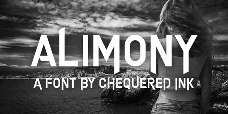 Alimony font by Chequered Ink