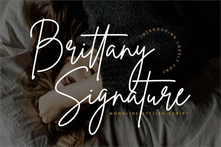 Brittany Signature Font design typography