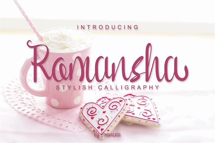 Romansha Font birthday cake dessert