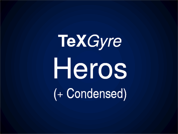 TeXGyreHeros Font screenshot design