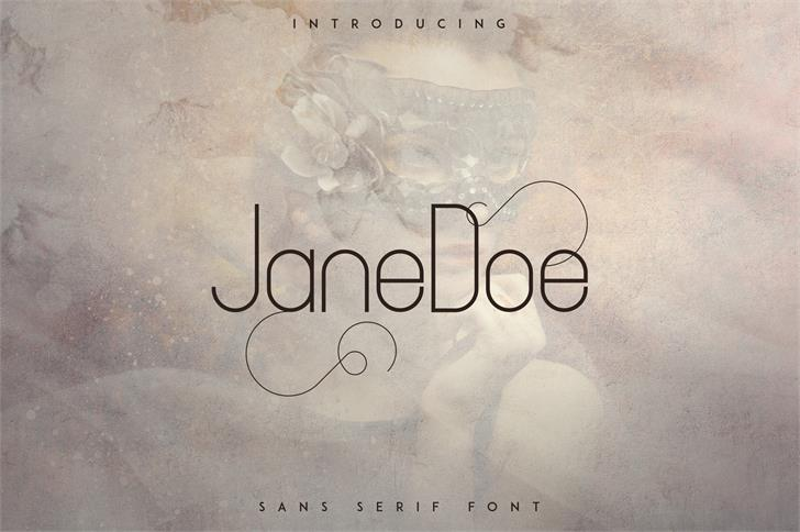 JaneDoe Font text drawing