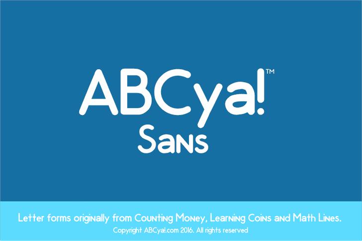 ABCya Sans Font screenshot design