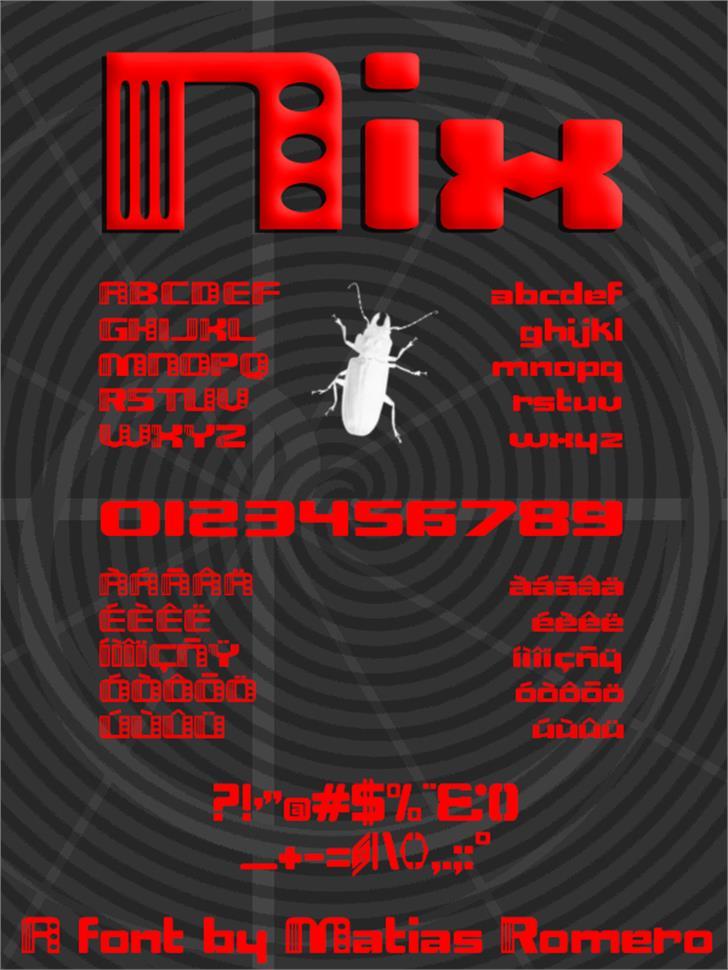 Nix Font screenshot poster
