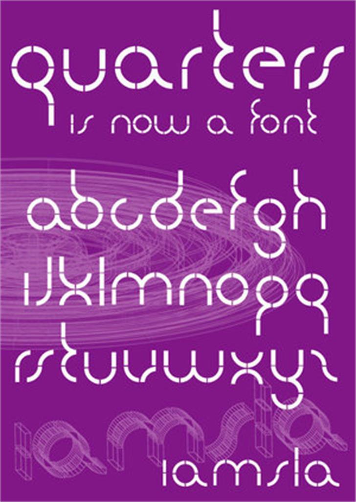 quarters Font design text