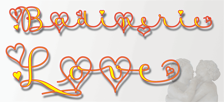 Badinerie Love font by JBFoundry