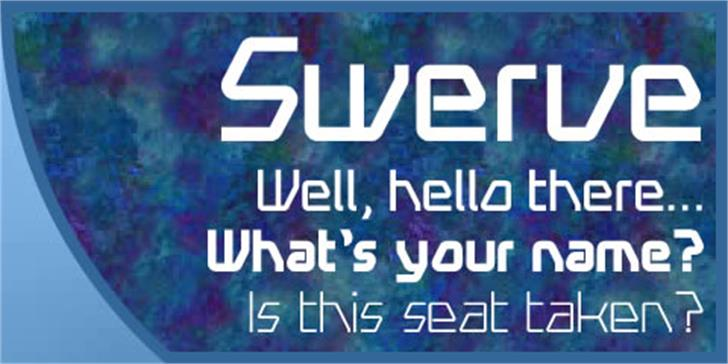 Swerve Font screenshot text