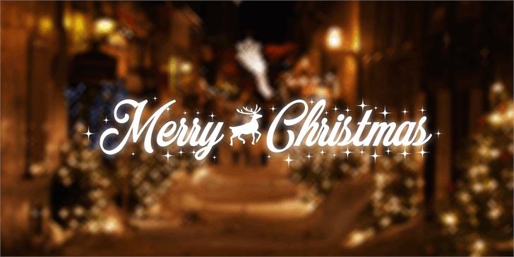 Merry Christmas font by Måns Grebäck