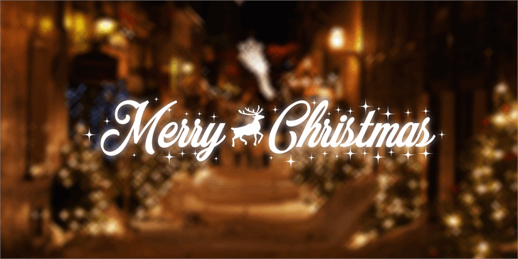 Merry Christmas Font sign street