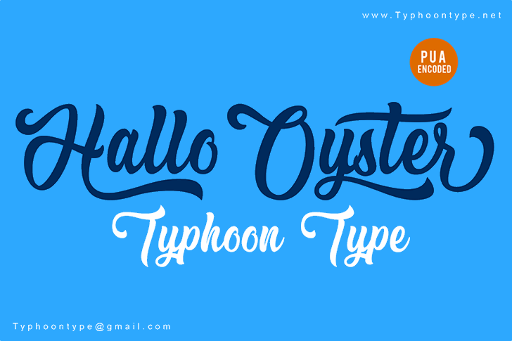 Hallo Oyster - Personal Use Font design