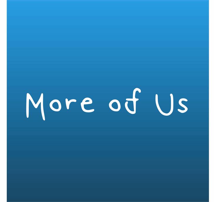 More Of Us Font design aqua