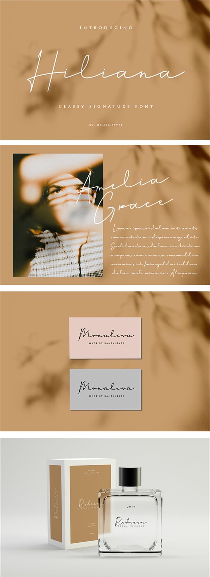Hiliana Font poster