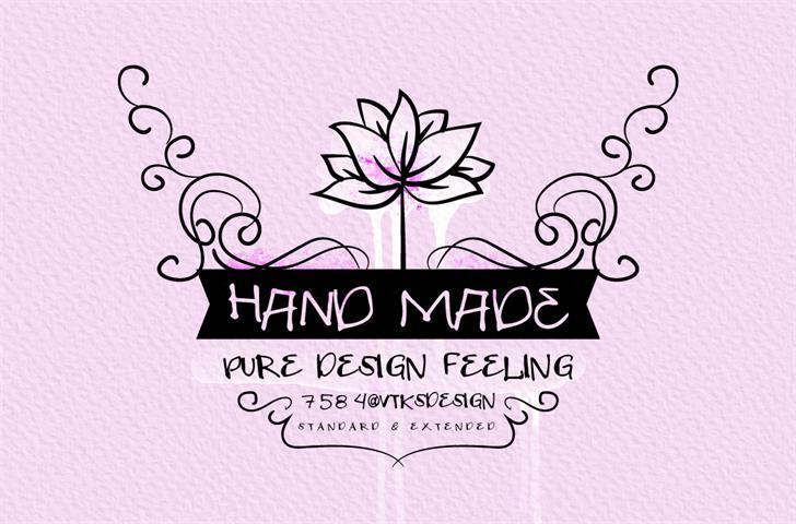 VTKS HAND MADE font by VTKS DESIGN