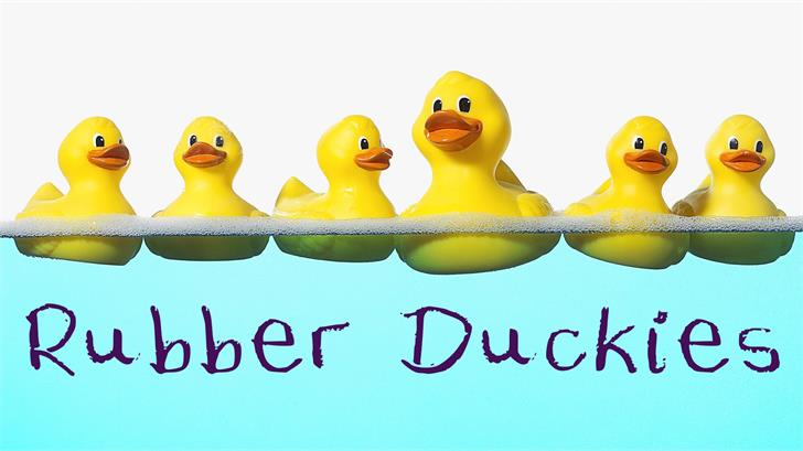 Rubber Duckies font by Me