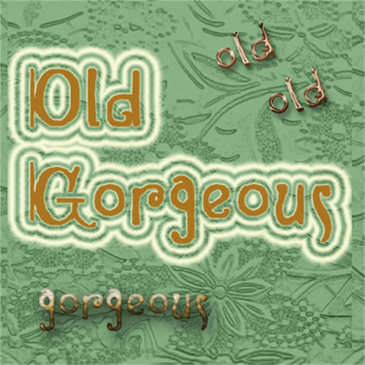 Old Gorgeous Font poster