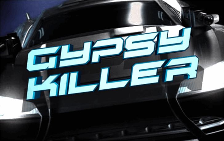 Gypsy Killer Font indoor