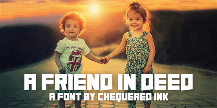 A Friend In Deed font by Chequered Ink