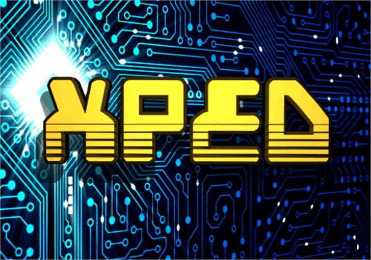 Xped Font electronics circuit