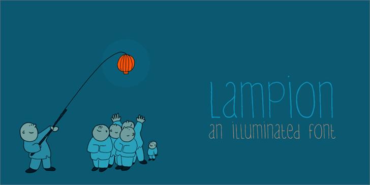 DK Lampion Font cartoon illustration