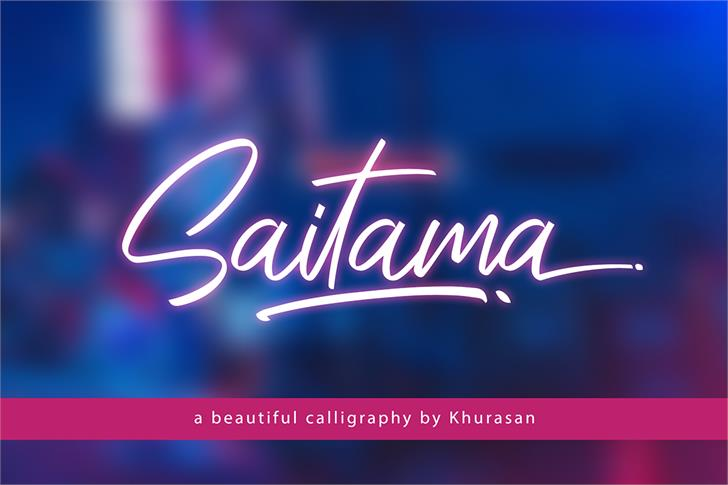 Saitama Font design text