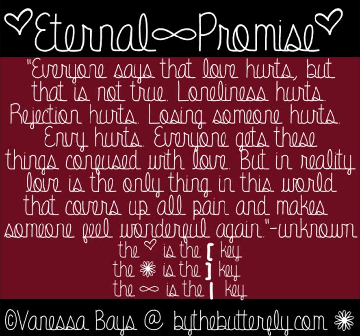 Eternal Promise Font text screenshot